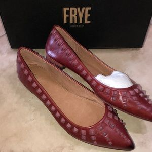 Frye Womens Sienna Red Clay Ballet Flats Size 6.5